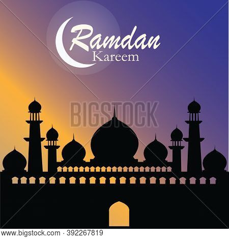 Illustration Of Ramadan Kareem And Ramazan Mubarak Wit Mosque