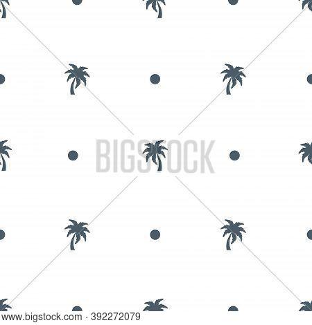 Seamless Palm Tree Pattern Texture. Palm Tree Print Vector Illustration Background.