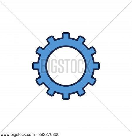 Blue Cog Wheel Vector Concept Icon Or Logo