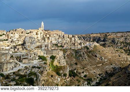 Skyline Of Materia With The Famous Roch Houses Called Sasssi