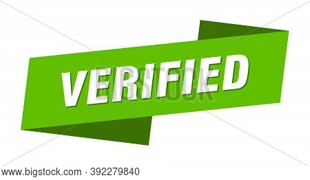 Verified Banner Template. Verified Ribbon Label Sign