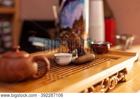 The Attributes Of The Tea Ceremony. Chinese Tea Ceremony. Bright Items In The Tea Ceremony. Preparin