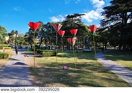 Buenos Aires, Argentina - 02 May 2016: The Park In Buenos Aires, Argentina