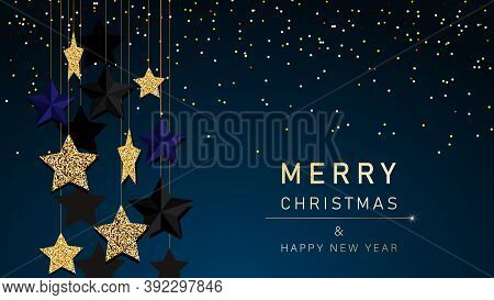 Christmas background. Merry Christmas card with gold snowflakes vector Illustration. Merry Christmas card vector Illustration.Christmas. Christmas Vector. Christmas Background. Merry Christmas Vector. Merry Christmas banner. Christmas illustrations