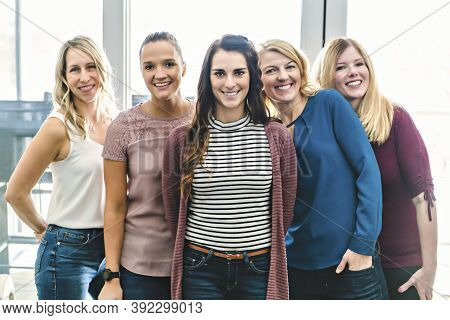 Portrait Of A Women Group Of Friend Having Great Time Together