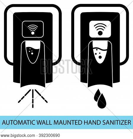 Hand Free Sanitizer. Wall Mounted Soap Automatic Dispenser. Automated Contactless Disinfectant With