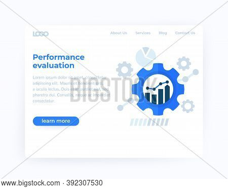 Performance Evaluation, Productive Capacity Website Template, Eps 10 File, Easy To Edit
