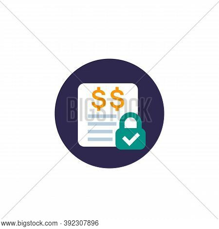 Fixed Costs Icon, Flat Vector, Eps 10 File, Easy To Edit