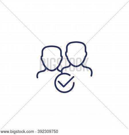 Membership Icon On White, Line, Eps 10 File, Easy To Edit