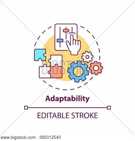 Adaptability Concept Icon. Creative Thinking Skills. Adjust Ability To Different Situations. Respond
