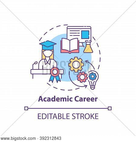 Academic Career Concept Icon. Top Careers For Creative Thinkers. Getting Well Payed Job. Future Work