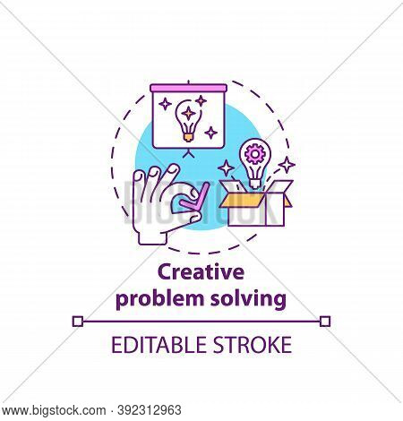 Creative Problem Solving Concept Icon. Creative Thinking Types. Dealing With Different Issues. Troub