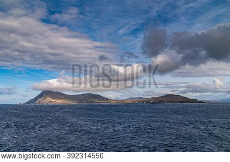 Cape Horn, Wollaston Islands, Chile - December 14, 2008: Wdie Shot Of Hilly Brown-green Hornos Islan