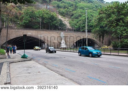 Rio De Janeiro, Brazil - 08 May 2016: The Tunel In Rio De Janeiro, Brazil
