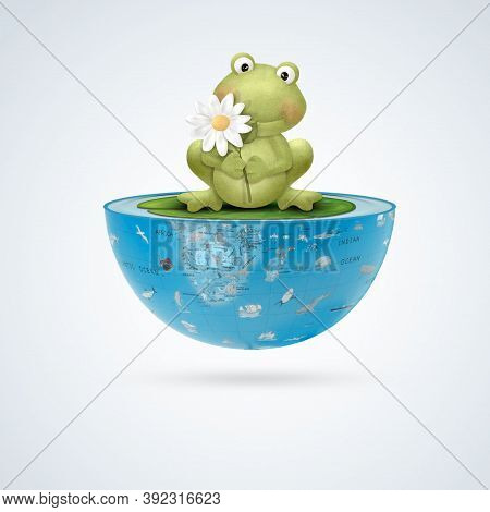 World Frog Day,21 March, Calendar Sheet, Graphic Design On The Theme Of World Frog Day On March 20th