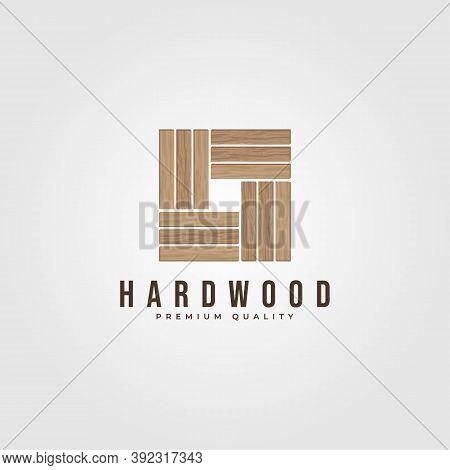 Hardwood Parquet Logo Vector Illustration Design, Wood Floor Minimalist Logo Design
