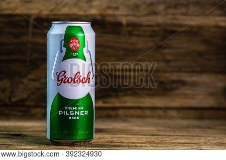 Grolsch Premium Pilsner - Grolsch Premium Lager, Is The Flagship Beer Of Dutch Grolsch Brewery. Stud