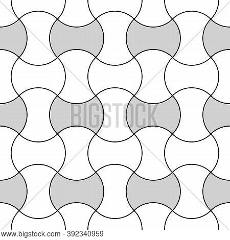 Apple Core Quilts Texture. Patchwork Motif. Seamless Surface Pattern Design With Ethnic Ornament. Co