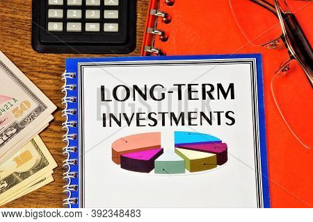 Long-term Investment. Text Label In The Document In The Planning Folder. Prospective Business Goals,