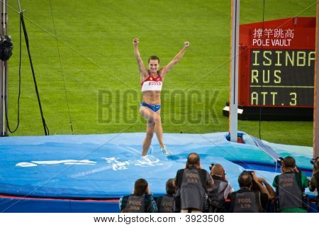Russia'S Yelena Isinbayeva Win Pole Vault