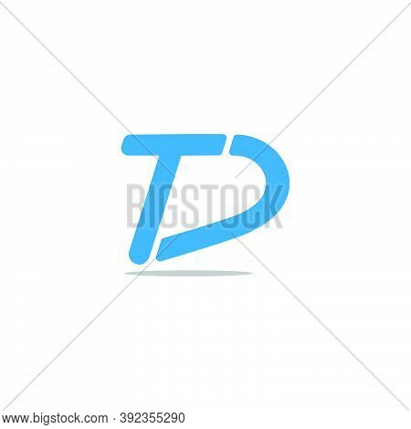 Letter Td Simple Slice Line Geometric Logo Vector