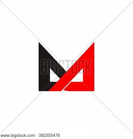Letter Ma Triangle Arrow Colorful Geometric Logo Vector