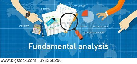 Fundamental Analysis Stock Investment Analysis By Looking At Company Data