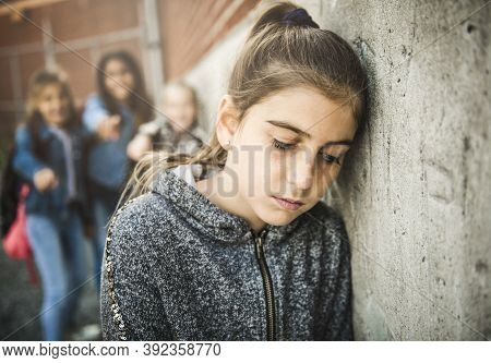 A Sad Girl Intimidation Moment On The Elementary Age Bullying In Schoolyard
