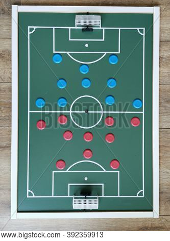 Top View Of Brazilian Button Soccer Toy.