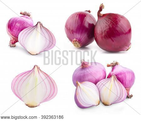 Shallots Raw An Isolated On White Background