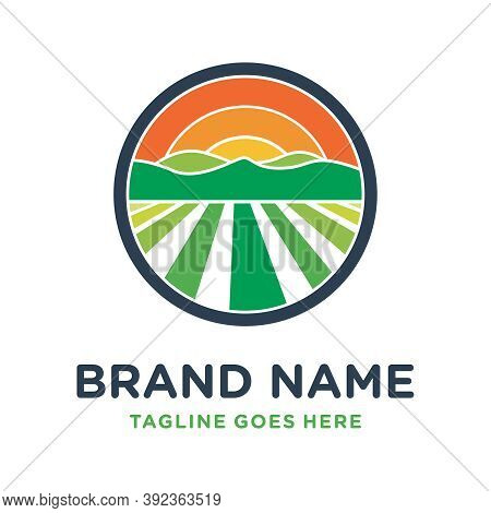 Farm Hill Circle Logo Design Or Your Brand