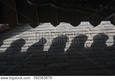 The Projection Of The Eaves On The Walls Of Traditional Residential Buildings In Northern China
