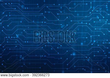 Abstract Futuristic Circuit Board Illustration High Computer Technology Background. Hi-tech Digital