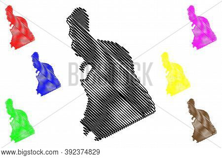 Campbell County, Kentucky (u.s. County, United States Of America, Usa, U.s., Us) Map Vector Illustra