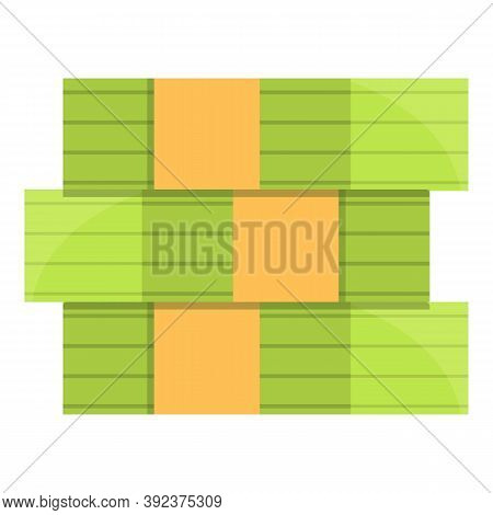 Auction Money Stack Icon. Cartoon Of Auction Money Stack Vector Icon For Web Design Isolated On Whit