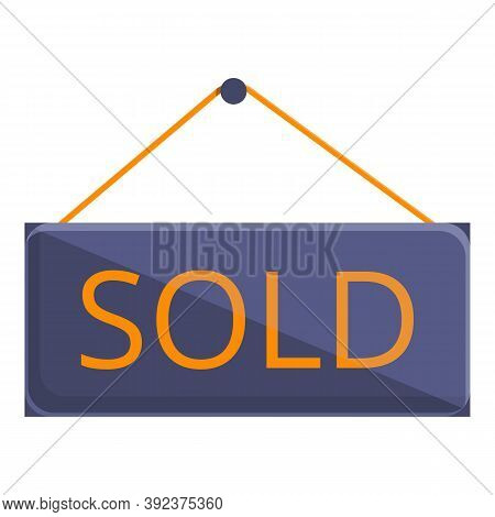 Auction Sold Icon. Cartoon Of Auction Sold Vector Icon For Web Design Isolated On White Background