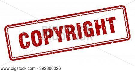 Copyright Stamp. Copyright Square Grunge Sign. Copyright