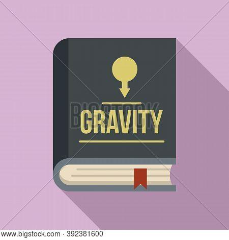 Gravity Book Icon. Flat Illustration Of Gravity Book Vector Icon For Web Design