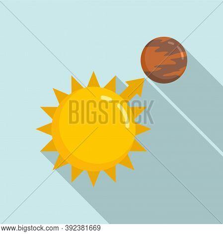 Sun Planet Gravity Icon. Flat Illustration Of Sun Planet Gravity Vector Icon For Web Design