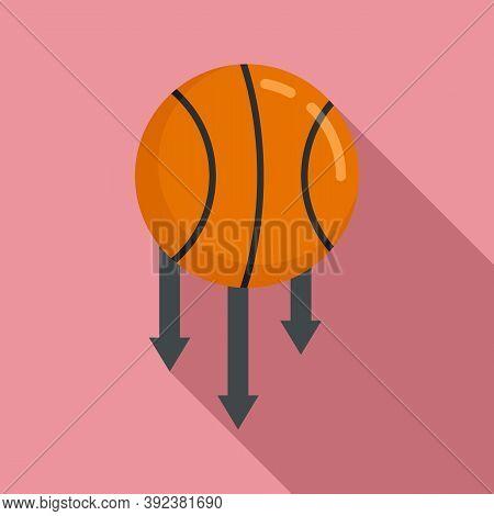 Basketball Ball Gravity Icon. Flat Illustration Of Basketball Ball Gravity Vector Icon For Web Desig