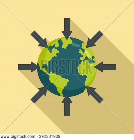 Earth Gravity Icon. Flat Illustration Of Earth Gravity Vector Icon For Web Design