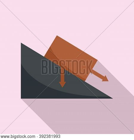 Science Angle Object Gravity Icon. Flat Illustration Of Science Angle Object Gravity Vector Icon For