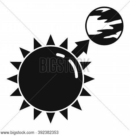 Sun Planet Gravity Icon. Simple Illustration Of Sun Planet Gravity Vector Icon For Web Design Isolat