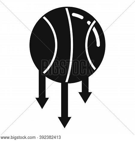 Basketball Ball Gravity Icon. Simple Illustration Of Basketball Ball Gravity Vector Icon For Web Des