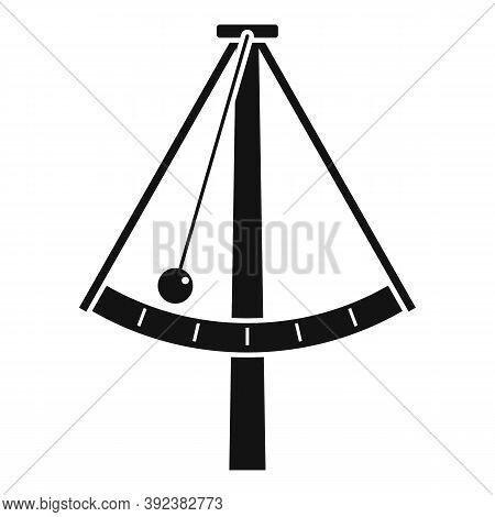 Metronome Gravity Icon. Simple Illustration Of Metronome Gravity Vector Icon For Web Design Isolated