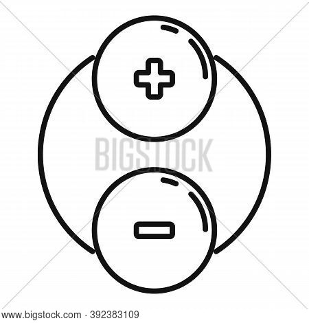 Plus Minus Attraction Icon. Outline Plus Minus Attraction Vector Icon For Web Design Isolated On Whi