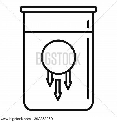 Sphere Flask Gravity Icon. Outline Sphere Flask Gravity Vector Icon For Web Design Isolated On White