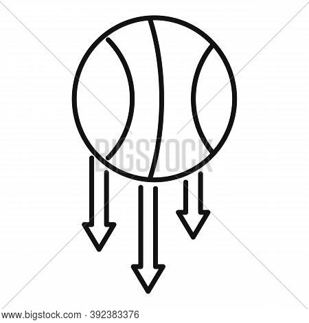 Basketball Ball Gravity Icon. Outline Basketball Ball Gravity Vector Icon For Web Design Isolated On