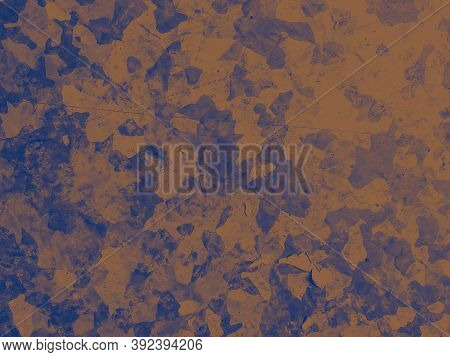 Watercolour Fashion Camouflage. Blue Military Fabric. Camo Material. Graphic Forest Print. Fashion C