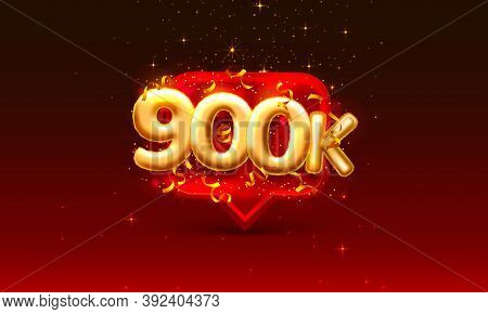 Thank You Followers Peoples, 900k Online Social Group, Happy Banner Celebrate, Vector